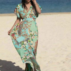 'Fleurs Lagon' Beach Dress