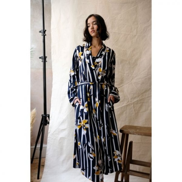 Knightsbridge Floral Print Long Dressing Gown