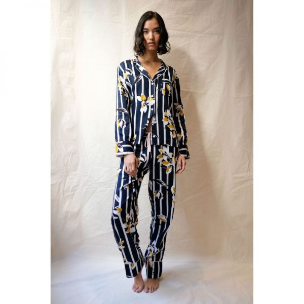 Knightsbridge Floral Stripe Pyjama Set