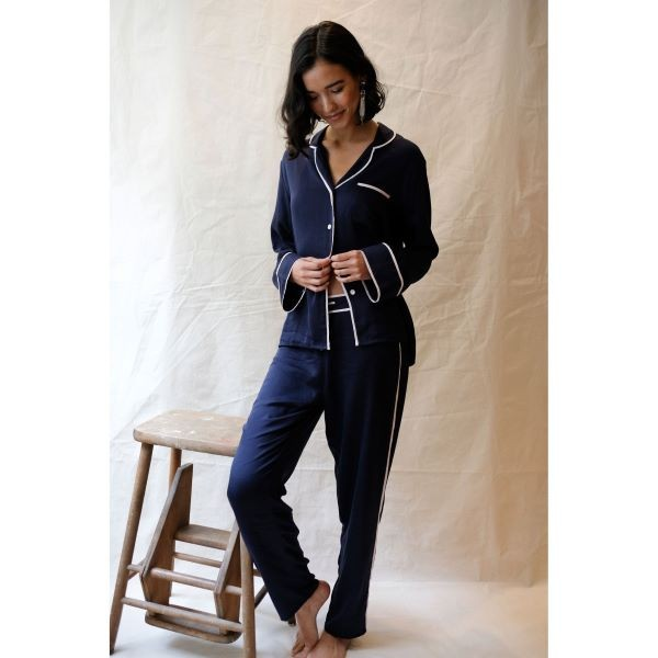 Knightsbridge Navy Pyjama Set