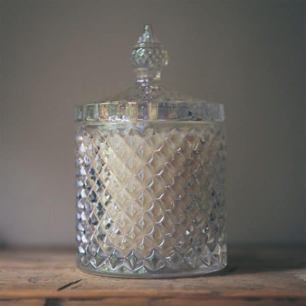 Geo Cut Pearlised Diamond Candle – Bliss