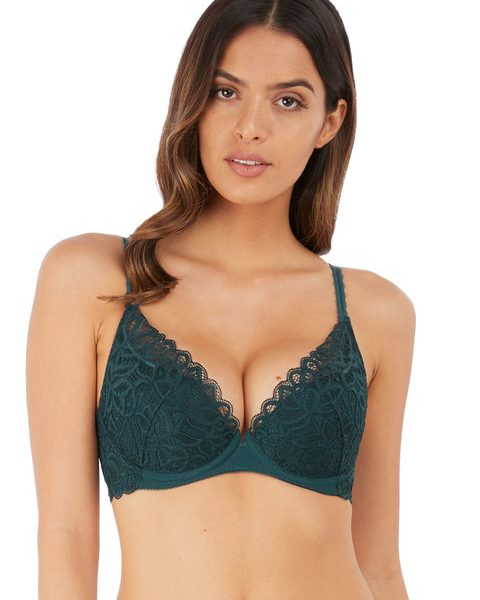 Raffine Emerald Plunge Push Up Bra